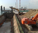 Construction of North Quay in South Basin  in Sagunto Port  - Spain